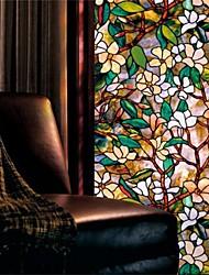 Цветочные мотивы Деревня Стикер на окна,ПВХ/винил материал окно Украшение