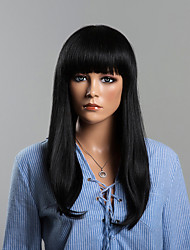 Best Capless Straight Black Long Human Hair Wigs