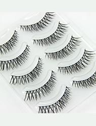 5 Eyelashes lash Full Strip Lashes Eyelash Crisscross Lifted lashes Manual Fiber Black Band 0.05mm 9mm