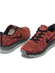 Nike Flyknit Air Max Pumps / Sneakers / Hardloopschoenen / Vrijetijdsschoenen Heren Slijtvast / Luchtbedden Rood / ZwartHardlopen /
