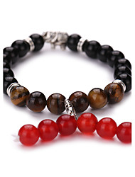 New Arrival Natural Volcano Bracelet With Agate And Tiger Stone  Beads Bracelet  #YMGS1026