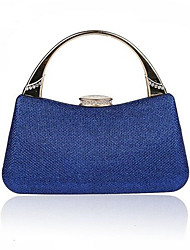 Women PU Formal Shoulder Bag Blue / Gold
