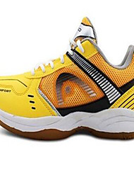 Men's Sneakers Tulle Athletic Low Heel Lace-up Yellow Badminton