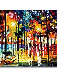 Peint à la main Paysage Peintures à l'huile,Pastoral / Style européen / Style / Modern / Classique / Traditionnel / Réalisme /