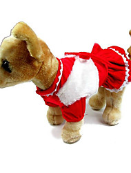 Cat / Dog Costume / Coat Red / Yellow Winter / Spring/Fall Bowknot Halloween / Birthday, Dog Clothes / Dog Clothing