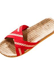 Damen-Slippers & Flip-Flops-Lässig-Polyester-Flacher AbsatzBlau Rosa Rot