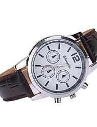 Men's Dress Watch Quartz Japanese Quartz Casual Watch Leather Band Black White Brown Multi-Colored Brand