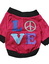 Gatos / Perros Camiseta Rosa Verano Flores / Botánica Moda, Dog Clothes / Dog Clothing-Other