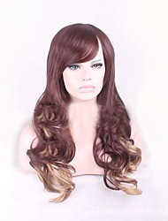 Cheap Brown Blonde Mix Color Body Wave Style Women Wigs