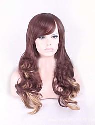 дешевые коричневые светлые смешивания женщин цвет тела стиль волны париков