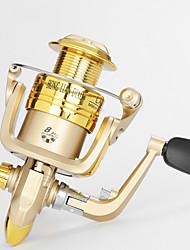 Molinetes Rotativos 5.2/1 10 Rolamentos Trocável Isco de Arremesso / Pesca Geral-LA4000 Lvfu