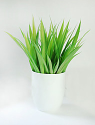 "13.7"" Ceramic Flower Pot Green Artificial Plants Home Decoration Potted Plants Ornaments Set Of 1"