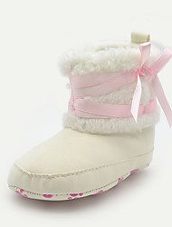 Baby Shoes Casual Leatherette Boots Beige