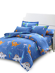 Cartoon Dinosaur Pattern Bedding Set 4PC