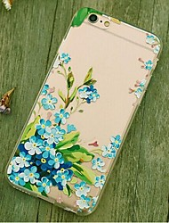 Back Shockproof Flower TPU Soft Shockproof Case Cover For Apple iPhone 6s Plus/6 Plus / iPhone 6s/6 526179014406