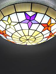 BOXIMIYA Mediterranean Tiffany Star Type Sweet Children Bedroom Absorb Dome Light 50 Cm in Diameter
