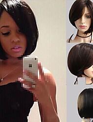 brun foncé style de mode court synthétiques perruques de bobo pour les femmes