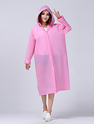 Long Section of Translucent Frosted Sense Adult Raincoat