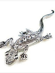 Silvery House Lizard Diamond Car Stickers, Metal Car Stereo