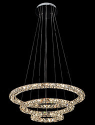 Modern Decoration lighting LED Crystal Ceiling Pendant Light Chandeliers Lamp with 3Rings 54W D204060CM CE FCC ROHS