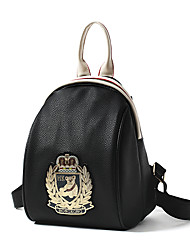 Women PU Sports / Casual / Outdoor / Office & Career / Shopping Backpack Gold / Silver