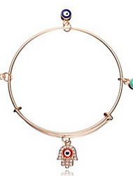 Bracelet/Charm Bracelets / Bangles Alloy Evil Eye / Hamsa Hand Fashionable / Bohemia Style Daily / Casual Jewelry Gift Rose Gold,1pc