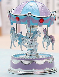 With Flash Carousel Music Box