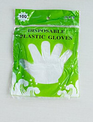 Large Thick Pe Disposable Food Gloves Disposable Gloves Transparent Plastic Film Household Gloves