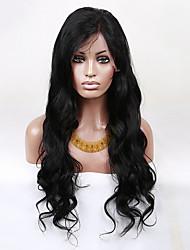 evawigs 22-28 polegadas não processado brasileiro virgem corpo humano cabelo onda peruca frente moda perucas naturais