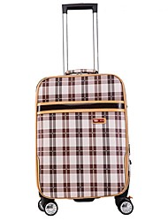Unisex PU Outdoor Luggage Blue / Brown