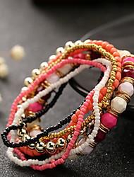 Bohemia Style Acrylic Beads Strand Bracelet (1 Set) Christmas Gifts