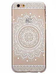 For iPhone 6 Case / iPhone 6 Plus Case Transparent / Pattern Case Back Cover Case Mandala Hard PCiPhone 7 Plus / iPhone 7 / iPhone 6s