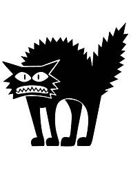 aw9422 Halloween Shop Glass Window Stickers Wall Stickers Halloween Black Cat Home Decor Stickers