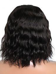 "8""-24""Glueless Short Bob Full Lace Human Hair Wigs For Black Women Brazilian Virgin Hair Wavy  Bob Short Wig"