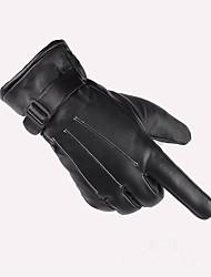 Homem lavadas pele três tendões e inverno quente outdoor passeio motocicleta elétrica espessamento é impedido bask em luvas