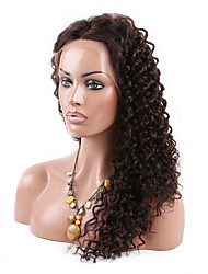 Freeshipping 6A Grade Brazilian Human Virgin Hair Wig High Density Kinky Curly Full Lace Wig