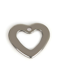Beadia (50Pcs) 11x10mm Heart Shape Stainless Steel Charm Pendant For Necklace & Bracelet Jewelry Making