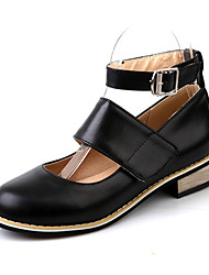 Women's Shoes Leatherette Spring Heels Heels Wedding / Party & Evening / Dress / Casual Chunky Heel Others Black