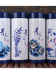 высокий класс керамическая чашка синий и белый из нержавеющей стали керамическая теплоизоляция чашка офиса реклама творческий подарок на