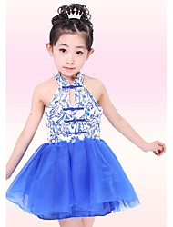 Ballet Outfits Children's Performance Polyester / Metal Pattern/Print 1 Piece Sleeveless Natural Dress