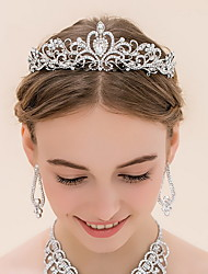 Femme Strass Alliage Casque-Mariage Tiare 1 Pièce