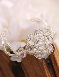 Round Crystal 17cm Fashionable Chain Bracelets