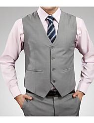 Vests Wool & Polyester Blend Black / Gray / Blue