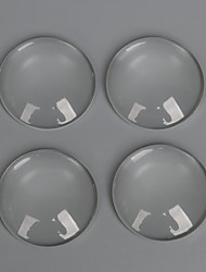 Beadia 10Pcs 30mm Flat Round Transparent Glass Cabochon For Earring Bracelet Necklace Jewelry Making