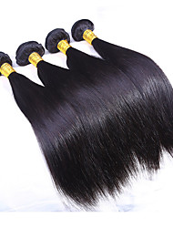 3 Bundles/Lot Silk Straight Hair Weft Indian Virgin Hair Weave Human Hair Extensions Total 300g