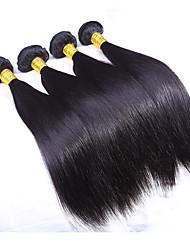 3 paquetes / trama virginal india de seda del pelo recto de la trama del pelo de las extensiones del pelo humano de la armadura total 300g
