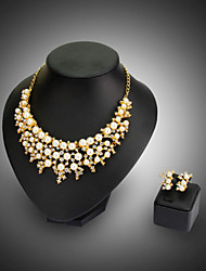 Jewelry Set Fashion White Necklace/Earrings Wedding 1set Necklaces Earrings Wedding Gifts