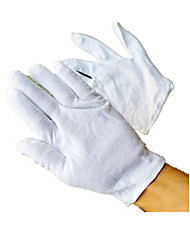 Man Playing Special Cotton White Cotton Gloves Ceremonial Gloves