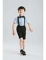Polyester Ring Bearer Suit - 4 Pieces Includes  Shirt / Pants / Waist cummerbund / Bow Tie