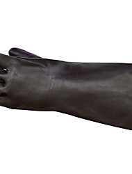 Longer Thicker Black Rubber Gloves Acid For Industrial